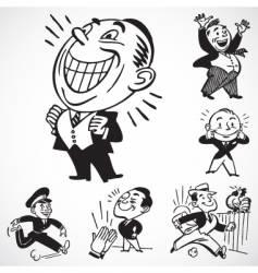 happy men vector image vector image