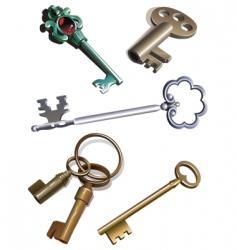 old keys vector image vector image