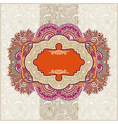 ornamental vintage template vector image vector image
