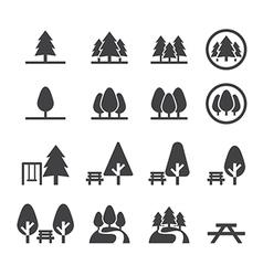 Park icon set vector