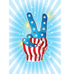 victory hand vector image