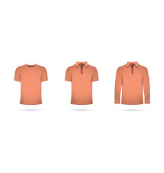 A set of orange t-shirts vector
