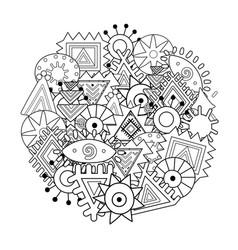 Abstract elements mandala coloring page tribal vector