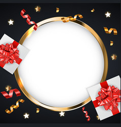 abstract golden glossy frame background with vector image