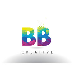 Bb b b colorful letter origami triangles design vector