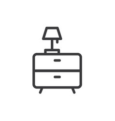 bedside table icon vector image
