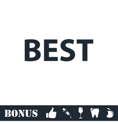 Best lettering text icon flat vector image vector image