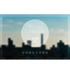 Blur urban Industrial factory background vector image