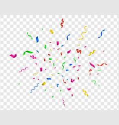 bright confetti party celebrate colorful vector image