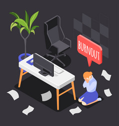 Burn-out syndrome background vector