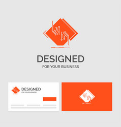 business logo template for board chip circuit vector image