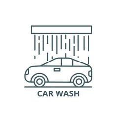 car wash line icon car wash outline sign vector image