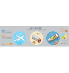 Cargo Transport Isometric Infographics Elements vector