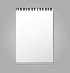 Closed notebook a4 vector