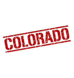 Colorado red square stamp vector