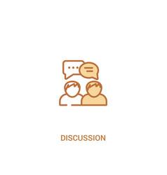 Discussion concept 2 colored icon simple line vector