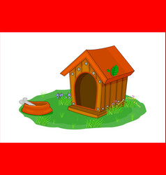Doghouse isolated on white background vector