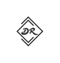 dr or rd abstract outstanding professional vector image