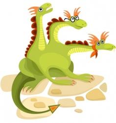 Dragon cartoon vector