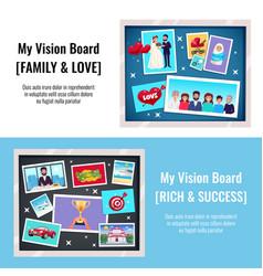 Dreams vision board banners set vector