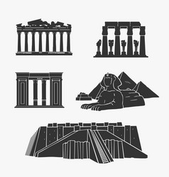 egyptian ancient architecture vector image