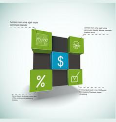 Financial cubes infographics vector