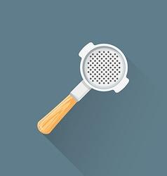 flat coffee barista portafilter icon vector image