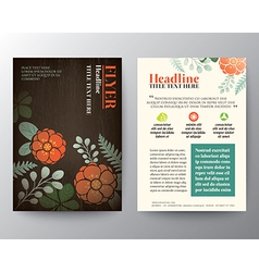 Floral background Brochure Flyer graphic design vector