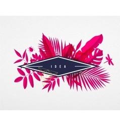 frame floral frame pink vector image