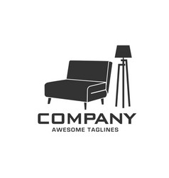 furniture logo company vector image