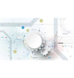 Gear wheel and circuit board 4-16-18 vector
