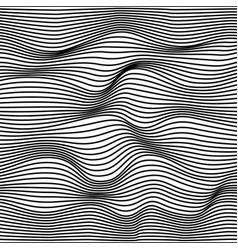 geometric wavy pattern vector image