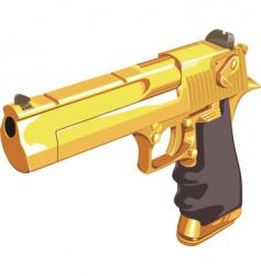 golden Glock vector image