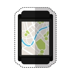 Gps service isolated icon vector