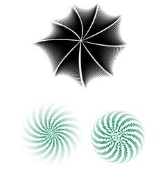 Halftone Radials vector image