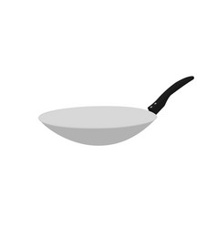 Isolated frying-pan kitchenware vector