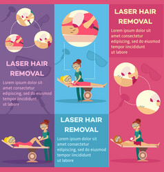 laser hair removal in cosmetological clinic or vector image
