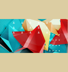low poly design 3d triangular shape background vector image