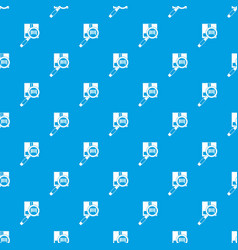Magnifier and diskette pattern seamless blue vector