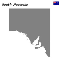 map of south australia is a state of australia vector image