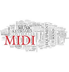 Midi word cloud concept vector