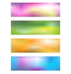 Mosaic banner set vector