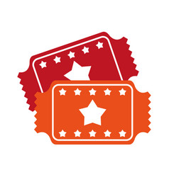 Movie tickets icon image vector