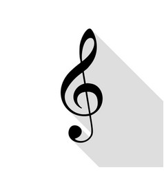 Music violin clef sign g-clef treble clef black vector