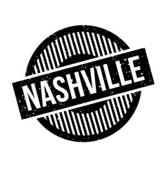 nashville rubber stamp vector image