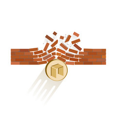 Neo coin breaks through the wall resistance vector
