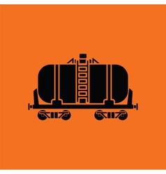 Oil railway tank icon vector