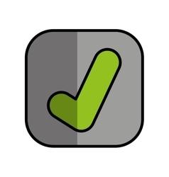 Ok button isolated icon vector