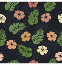 Orchids floral seamless pattern vector image
