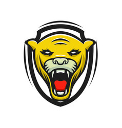 panther logo mascot design sport isol vector image